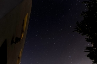 Night sky above Casa Pau