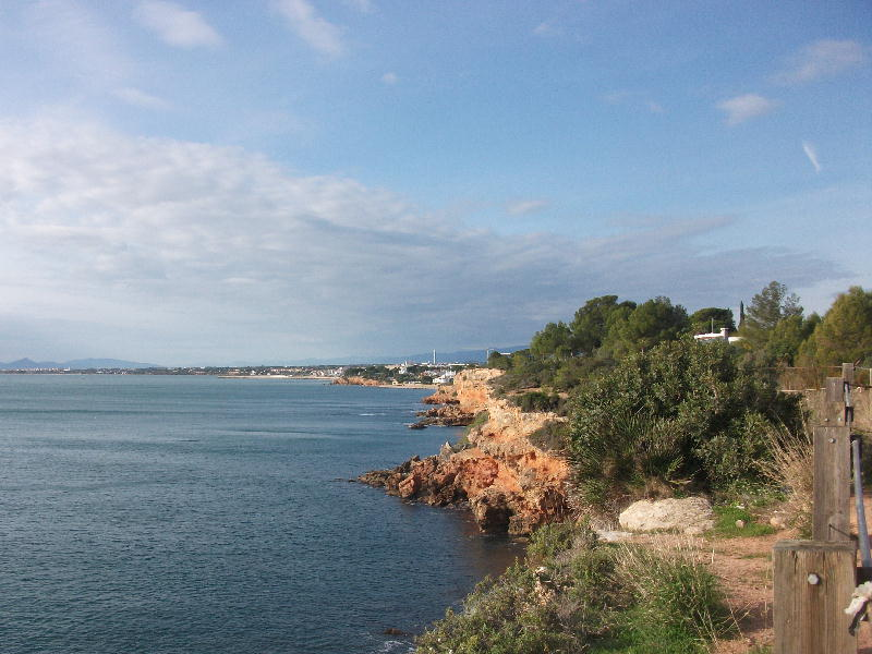Coast looking back to L'Ampolla